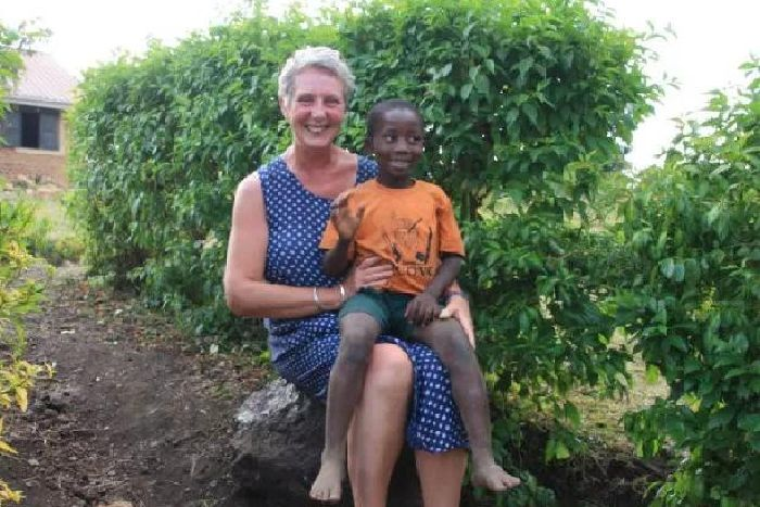 Juli Sims visited west Uganda to find gorillas - but instead, she found a school of children she wanted to help.