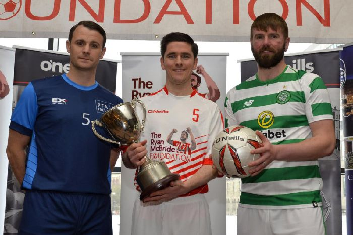 Pictured at the recent launch of the Ryan McBride Masters Soccer Sixes in  the City Hotel ca2564fdb