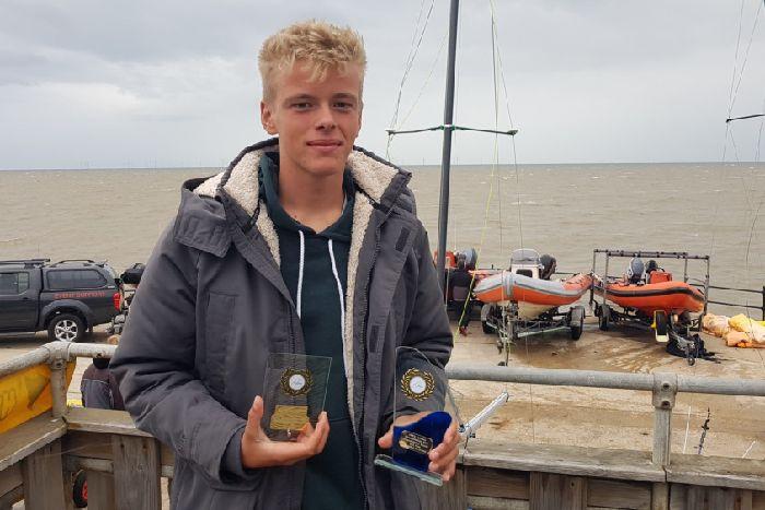 Sam Williams, 17, won the United Kingdom Windsurfing Association coastal series