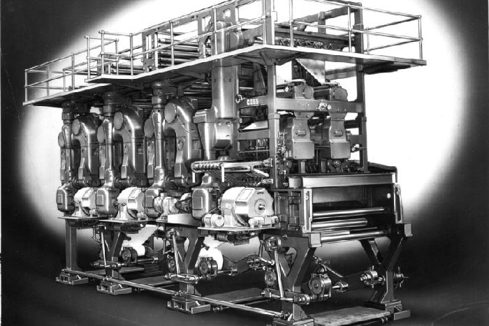 Giant printing press used to produce Hastings Observer series still