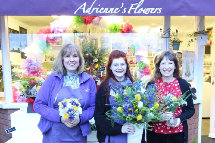 Adrienne, Emma and Karen before the hand over to The Princess Royal