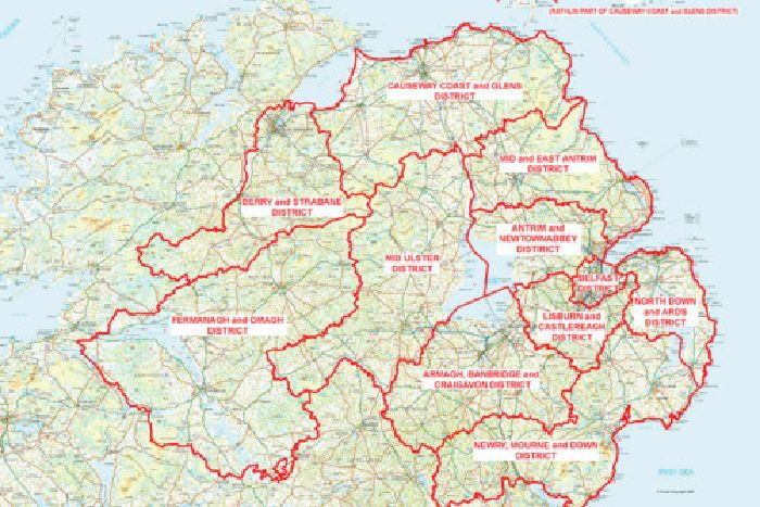 Map Of N Ireland.Boundaries Of New Super Councils Are Revealed Belfast News Letter