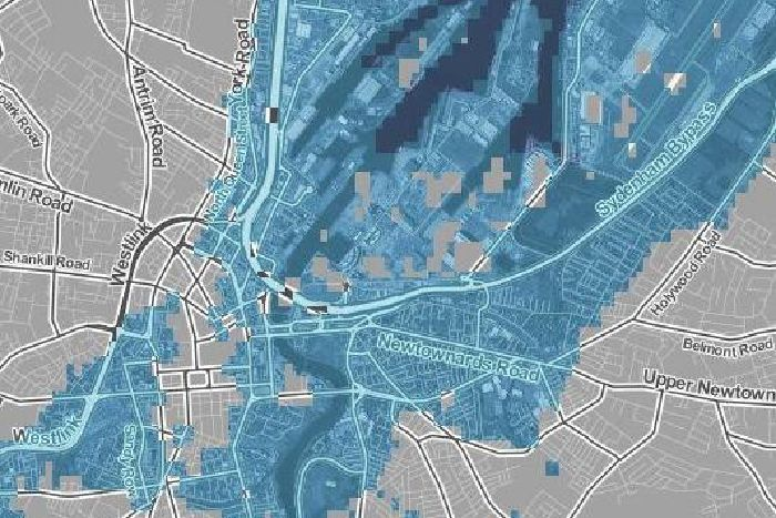 World Map If Sea Levels Rise.This Map Shows Which Belfast Streets Would Be Submerged If Sea