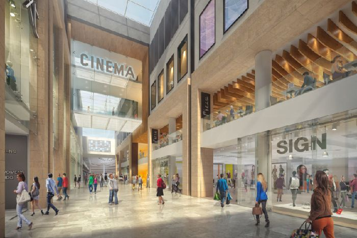 94da3c2e94 An image shows how the new look Queensgate shopping centre will appear.