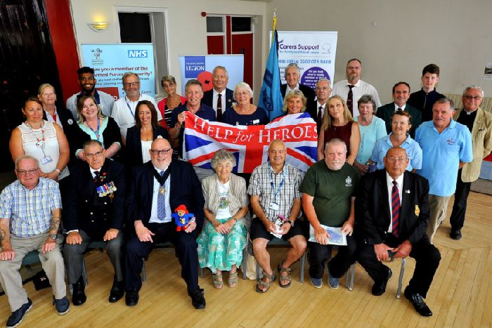 d8e4d363bc The launch of the monthly Worthing Veterans Drop In Centre. Pictire Steve  Robards SR18181319