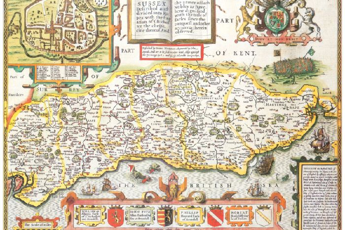 Fascinating Tudor map shows changing face of Sus - West Sus ... on kent station map, kent island map, dover england on map, devon england uk map, kent street map, leeds castle england on map, kent county map, new england united states map, faversham kent map, england ocean map, dover france map, new england weather map, scotland map, new england county map, stonehenge england location map, isle of sheppey map, york map, fscj kent campus building map, united kingdom map, england's map,