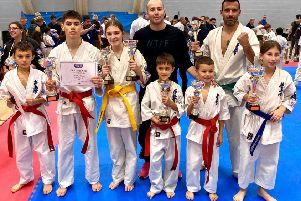 Melton Mowbray's Ronin Kyokushin squad at the IKK English Open EMN-191211-173301002