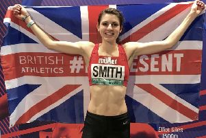 Mari Smith was a British 800m silver medallist indoors this winter and reached the European Indoors Championship final on her senior international debut EMN-191007-143348002