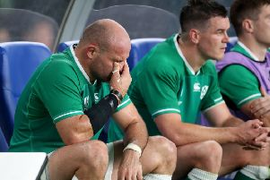 It proved an emotional final appearance for Rory Best on Saturday in the Rugby World Cup quarter-final exit to New Zealand. Pic by INPHO.