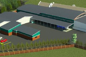 An artist's impression of the new winery planned for the Mannings Heath Golf Club and Wine Estate SUS-200122-165619001