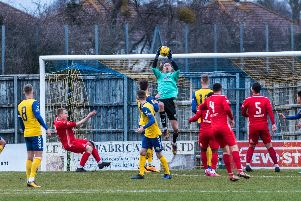 Pat O'Flaherty pulled off two late saves to spare Gosport from an embarrassing home loss to Beaconsfield