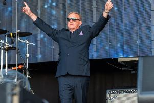 Suggs and Madness were in great form at Franklin's Gardens (Pictures: David Jackson)