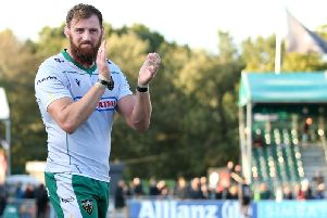 Tom Wood helped Saints to secure a fine win at Saracens
