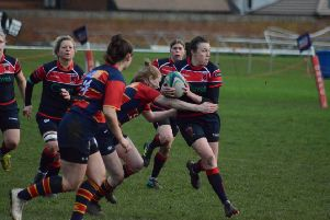 Action from Biggleswade Ladies' contest against Old Northamptionian Ladies. Photo: Tom Frost XomRAvqQpDMLv2razX4l