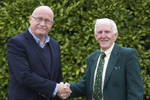 Pictured are Rob Bradley, Cricket Board chairman (left), and Chris Keywood, Lincolnshire County Cricket Club chairman.
