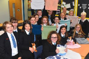 Pupils at Long Field Academy in Melton make pouches for orphaned baby animals affected by spreading wildfires in Australia EMN-200120-104752001