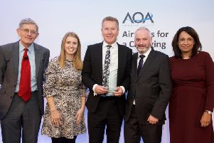 L to R: Simon Calder - Travel Editor, The Independent, Joanne Johnstone -  Head of Health & Safety, LLA, Neil Thompson - Operations Director, LLA, Liam Bolger  Head of Airside, LLA, Baroness Ruby McGregor-Smith  Chair, AOA