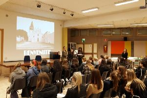 Student welcoming presentation in Italy
