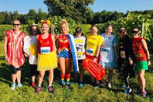 Gade Valley Harriers' ladies at the Bacchus event.