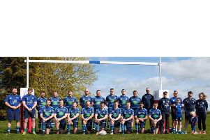 Rugby St Andrews squad photo before their last home game of the season on Saturday