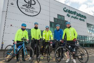 Members of Connect Cycling at Green Pastures in Ballymena.
