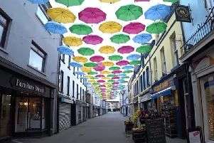 'Umbrella Street' was one initiative to make Carrickfergus a more attractive place.