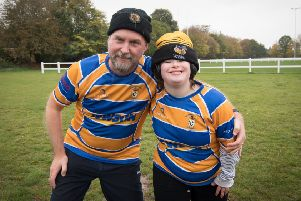 Paul Huc and daughter Amy at their first ever competitive game for OLs.