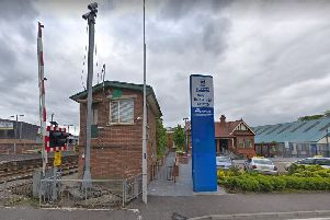 Antrim bus and rail station. Pic by Google