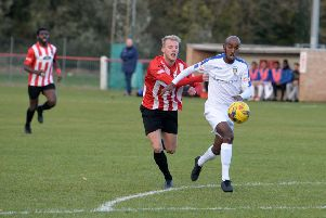 Action from Dunstable Town's win at Kempston Rovers