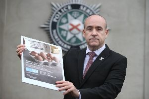 Detective Superintendent Ryan Henderson launches the PSNI's annual domestic abuse campaign.