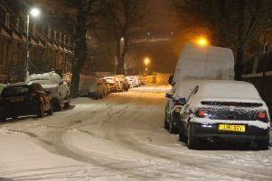 Streets were covered with snow