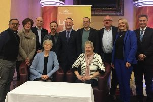 Organisers, speakers and guests pictured at the Hope Centre's fourth annual Aiding Recovery Conference in Ballymena.