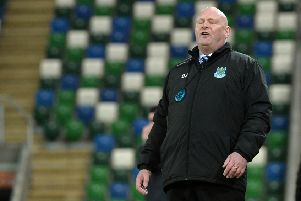 Ballymena's Manager David Jeffrey