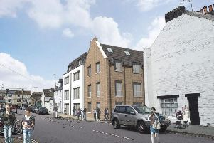 An artist's impression of the new flats