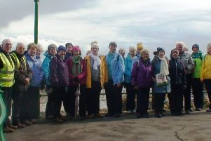 Some of the 87 members of Ballymena Walking Club on their walking trip to the Channel Island of Jersey