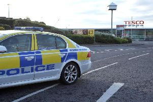 Police recovered two ATMs after they were removed from a supermarket on Larne Link Road in Ballymena