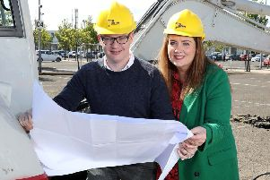 Pictured (L-R): Craig Stewart, senior asset manager, Lotus Property and Leona Barr, centre manager, The Junction, announce the imminent arrival of three new food and beverage offerings, alongside approved planning permission for a series of developments to the scheme. The exciting new additions, American restaurant chain TGI Fridays and a brand-new Starbucks Drive Thru, will complete Phase 1 of the scheme's masterplan ' the food and film zone. The popular eateries will join the previously announced Nando's, with all three set to open towards the end of 2019. Construction is due to commence next week at the Antrim-based scheme and will be the next phase in making The Junction Northern Ireland's largest shopping and leisure destination, as part of an overall ?30 million redevelopment plan. For further information, visit www.thejunctionshopping.com or follow @TheJunctionAntrim on Facebook and Instagram or @JunctionAntrim on Twitter. For all leasing opportunities at The Junction please contact Colliers or Lambert