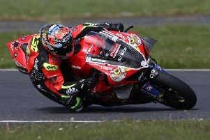 Alastair Seeley on the PBM Be Wiser Ducati at Kirkistown on Sunday. Picture: Stephen Davison/Pacemaker Press.