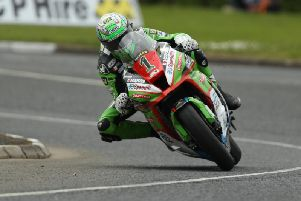 Glenn Irwin qualified second fastest in the Superstock class on the Quattro Plant/Wicked Coatings Kawasaki.