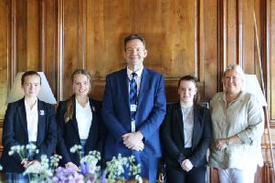 The Seaford College equestrian team with their headmaster and team manager