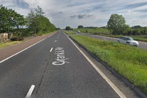 The PSNI said a 37-year-old woman died after the collision on the Crankill Road in Ballymena at the weekend. Photo: Google maps