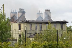 Steeple House in Antrim was gutted by an overnight fire.