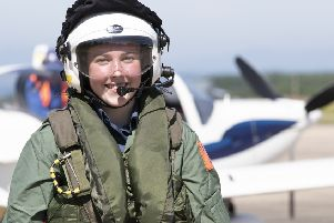At a flying experience day for RAF Cadets held at FS Adergrove.