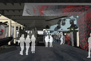 An artist impression of what the new Royal Marines Museum could look like.