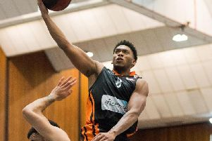 Former Worthing Thunder captain Brandon Okoronkwo scored 16 points against his old side. Picture by Kyle Hemsley