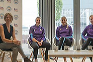 Aylesbury born footballer Ellen White takes part in a panel discussion with some of her Manchester City team-mates about life on and off the football pitch