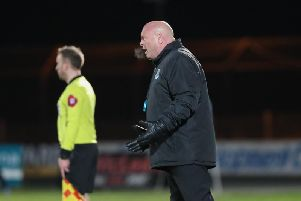 Ballymena United manager David Jeffrey.