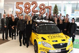 Randalstown and Campsie based car retailer John Mulholland Motors have donated �58,287 to local charity Friends of the Cancer Centre.