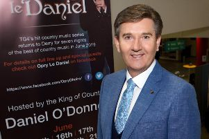 Daniel O'Donnell pictured launching his summer shows last week at the Millennium Forum. (Photo - Tom Heaney, nwpresspics)