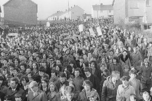 The first ever Bloody Sunday commemorative march which took place on January 30, 1973.